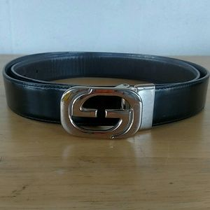 Vintage Gucci Double GG Belt- Black for Men